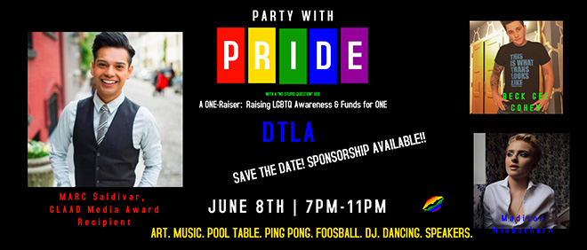 ONE: Party with Pride Event Flyer